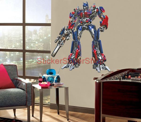 xxl optimus prime decal removable wall sticker decor mural