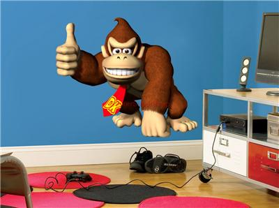 Choose Size DONKEY KONG Mario Decal Removable WALL