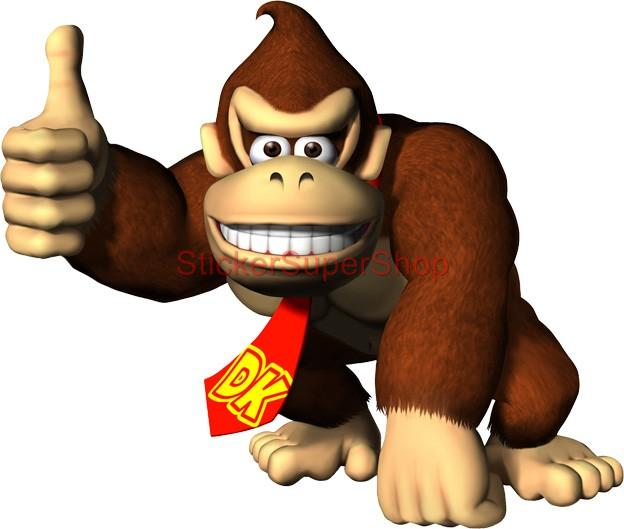 Choose Size Donkey Kong Mario Decal Removable Wall Sticker