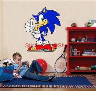Choose size classic sonic retro mario decal removable wall sticker decor art ebay - Sonic wall decals ...