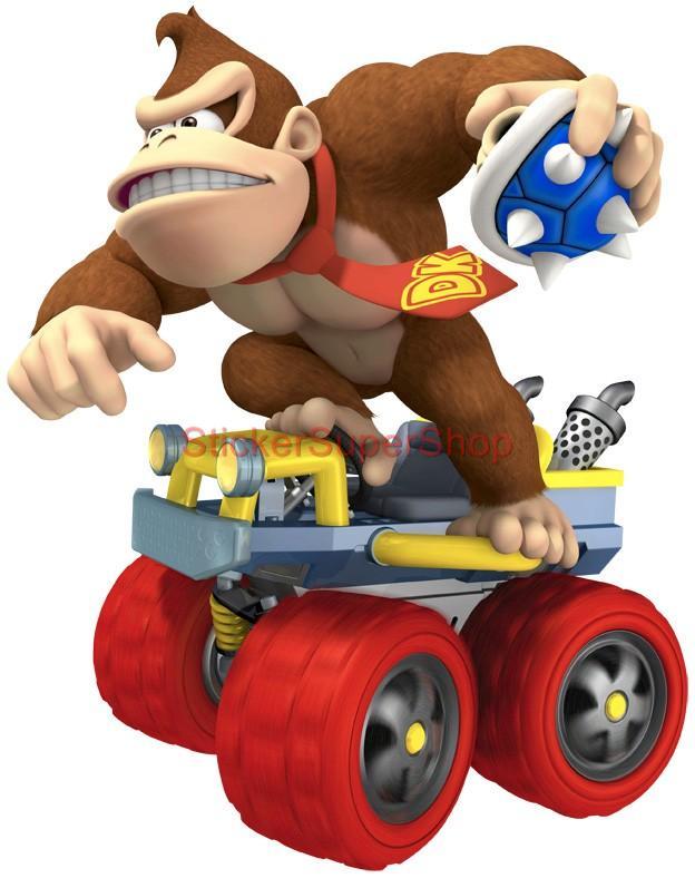 Choose Size Donkey Kong Kart Mario Bros Decal Removable