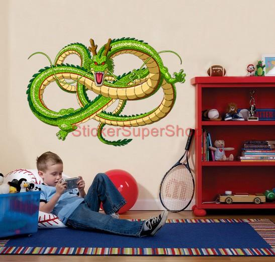 Choose size shenron dragon ball z decal removable wall for Dragon ball z decorations