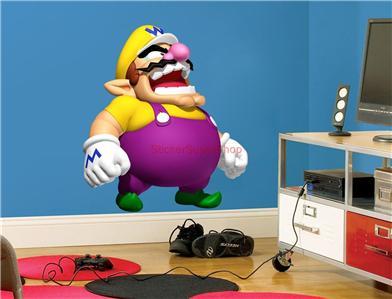 Choose Size Wario Super Mario Bros Decal Removable Wall Sticker ...