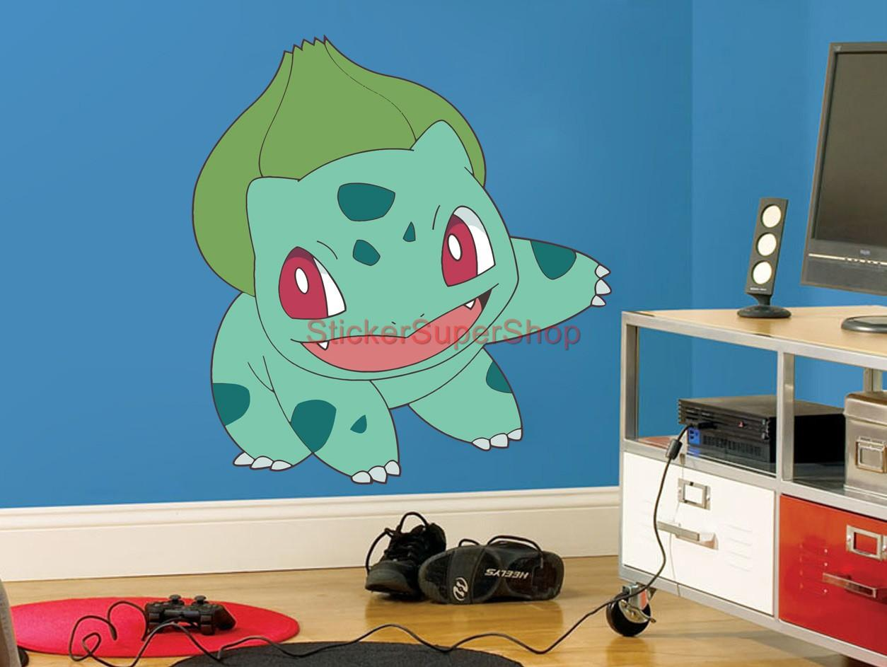 choose size bulbasaur pokemon decal removable wall sticker home decor kids ebay. Black Bedroom Furniture Sets. Home Design Ideas