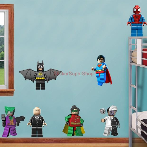 lego batman 11 characters decal removable wall sticker. Black Bedroom Furniture Sets. Home Design Ideas