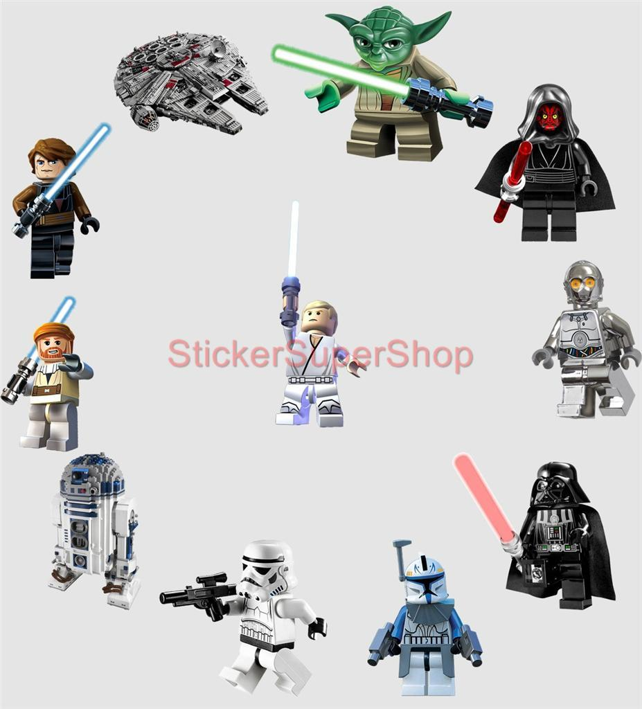 Removable Wall Decals Star Wars : LEGO STAR WARS 11 CHARACTERS