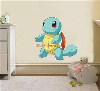 choose size squirtle pokemon decal removable wall sticker home decor ...