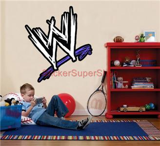 Nice Choose Size Color Wwe Logo Decal Removable Wall Sticker Home Decor Art . Part 19