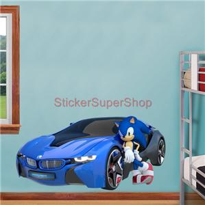 Sonic all star racing the hedgehog decal removable wall sticker decor art giant ebay - Sonic wall decals ...