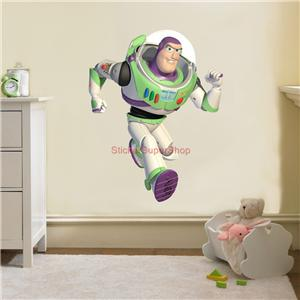 Buzz lightyear toy story decal removable wall sticker for Buzz lightyear wall mural