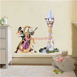 rapunzel tower tangled decal removable wall sticker decor tangled wall decals disney tangled wall decal wayfair