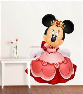 princess minnie mouse decal removable wall sticker home decor art