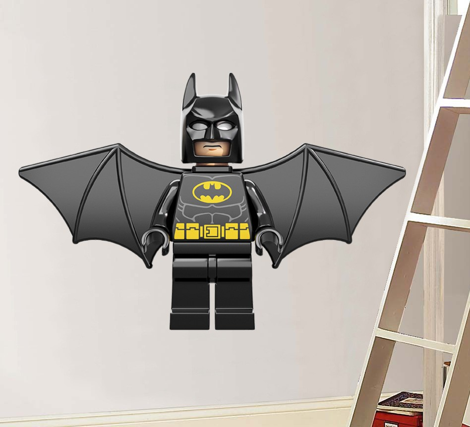 Huge Lego Flying Batman Decal Removable Wall Sticker Home