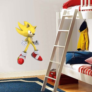 Choose size super sonic hedgehog decal removable wall sticker home decor art ebay - Sonic wall decals ...