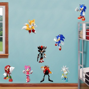 Sonic hedgehog 8 characters decal removable wall sticker decor art free shipping ebay - Sonic wall decals ...