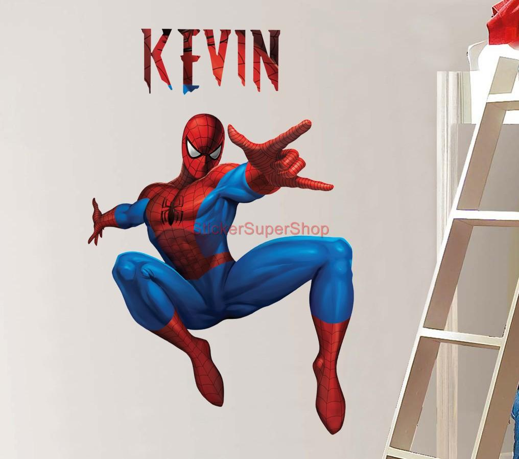 Http Www Ebay Com Itm Personalized Spiderman Decal Removable Wall Sticker Home Decor Art Comcs Amazing 370837043545