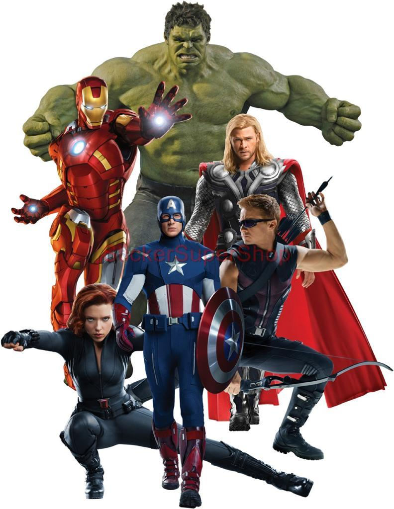 The avengers decal removable wall sticker home decor art for Avengers wall mural amazon