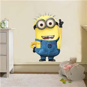 DESPICABLE ME MINION Movie Decal Removable WALL STICKER Home Decor - Minion wall decals