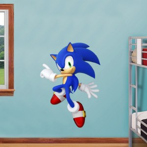 Sonic the hedgehog decal removable wall sticker home decor art game kids bedroom ebay - Sonic wall decals ...