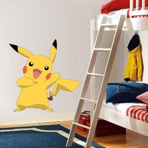 pikachu pokemon decal removable wall sticker home decor art kids bedroom ash ebay. Black Bedroom Furniture Sets. Home Design Ideas