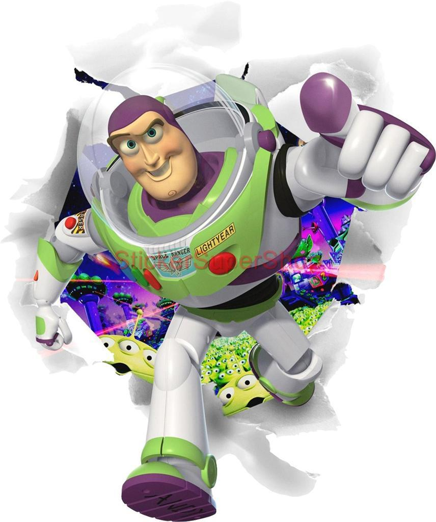 Buzz lightyear bursting out decal removable wall sticker for Buzz lightyear wall mural