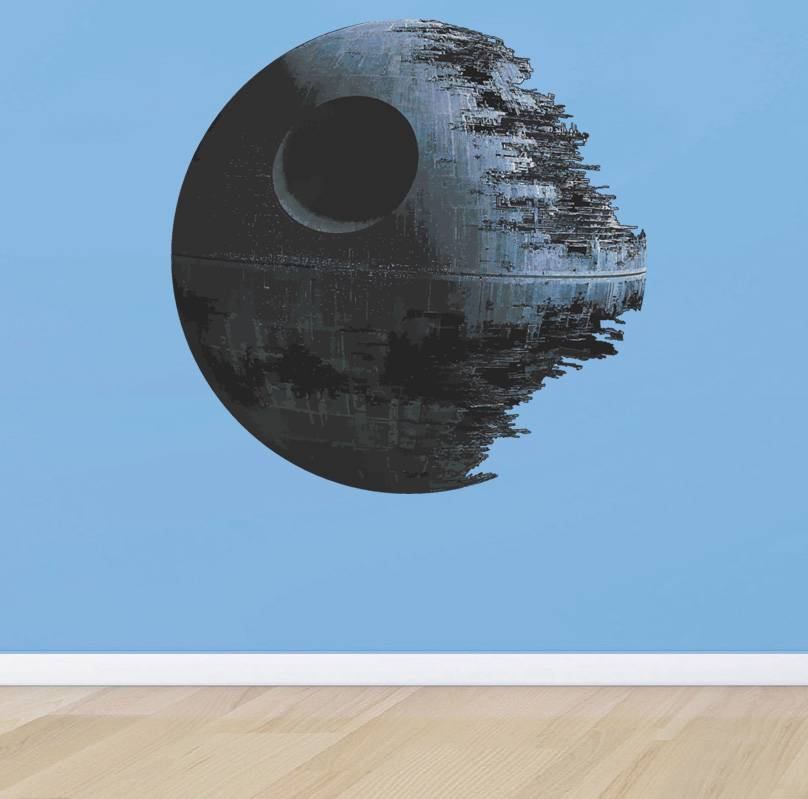 Death star wars artwork decal removable wall sticker decor for Death star wall mural