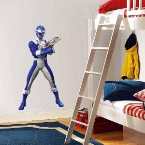 blue power ranger decal removable wall sticker home decor
