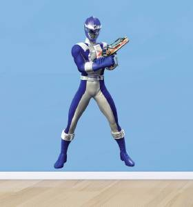 BLUE POWER RANGER   WALL STICKER Part 41