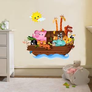 NOAHS ARK Decal Removable WALL STICKER Home Decor Art Kids - Wall decals noah's ark