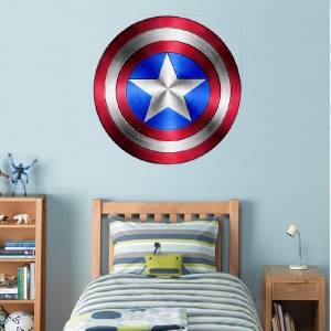 Captain america shield avengers decal removable wall Captain america wall decor