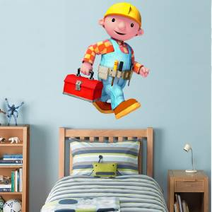 Bob the builder decal removable wall sticker home decor for Bob the builder wall mural