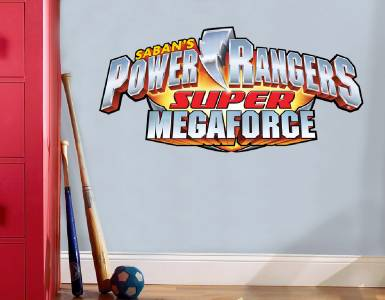 POWER RANGERS LOGO   WALL STICKER Part 48