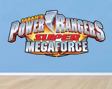 POWER RANGERS LOGO   WALL STICKER Part 64