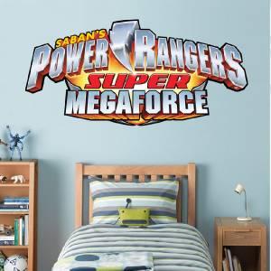 POWER RANGERS LOGO   WALL STICKER