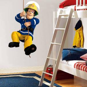 FIREMAN SAM Decal Removable WALL STICKER Home Decor Art Kids Bedroom Giant
