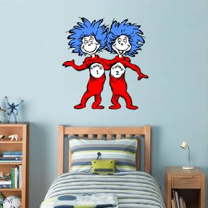 Dr Seuss Thing 1 Thing 2 Decal Removable Wall Sticker