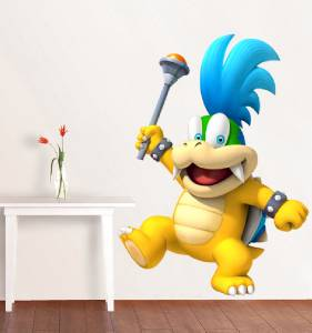Larry koopa super mario bros decal removable wall sticker home decor art giant - Super mario giant wall decals ...
