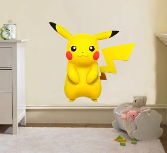 pikachu decal removable wall sticker home decor art kids bedroom