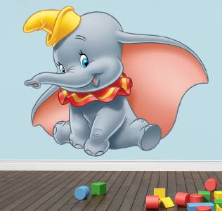 dumbo the elephant disney decal removable wall sticker disney dumbo wall sticker 3d effect window children s
