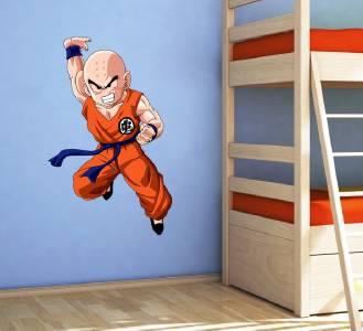 KRILLIN Dragon Ball Z Decal Removable WALL STICKER Home Decor Art - Dragon ball z wall decals