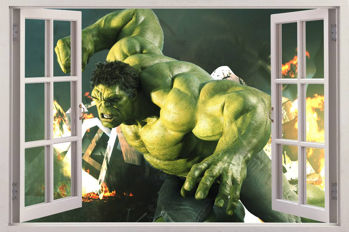 28 incredible hulk wall stickers the incredible hulk wall incredible hulk wall stickers incredible hulk 3d window view decal wall sticker home