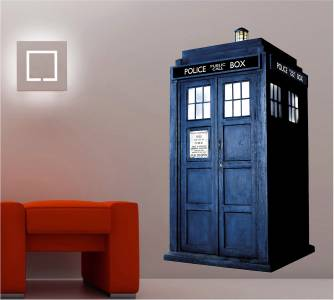 dr who tardis phone booth decal wall sticker home decor art police