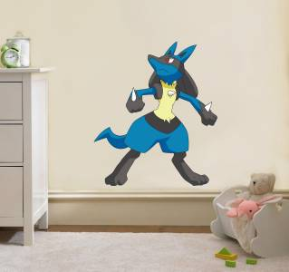 LUCARIO Pokemon Decal Removable WALL STICKER Home Decor Art Kids