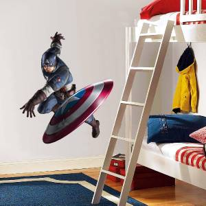 Captain America Decal Removable Wall Sticker Art Home
