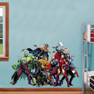Marvel Comics Group Decal Removable Wall Sticker Home