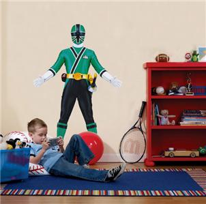 green power ranger decal removable wall sticker home decor personalised power rangers wall art transfer boys bedroom