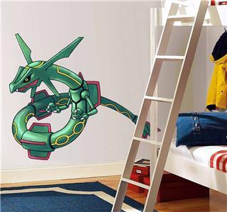 rayquaza pokemon decal removable wall sticker home decor art kids ebay. Black Bedroom Furniture Sets. Home Design Ideas
