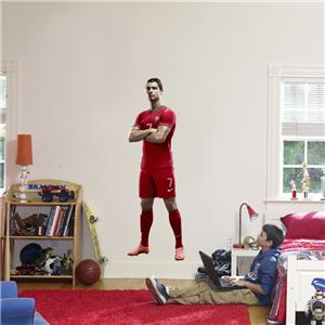 Cristiano ronaldo portugal decal removable wall sticker for Cristiano ronaldo wall mural