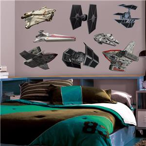 Star wars rebel imperial ships 8 decals removable wall for Imperial home decor