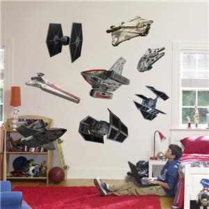 Star Wars Rebel Imperial Ships 8 Decals Removable Wall
